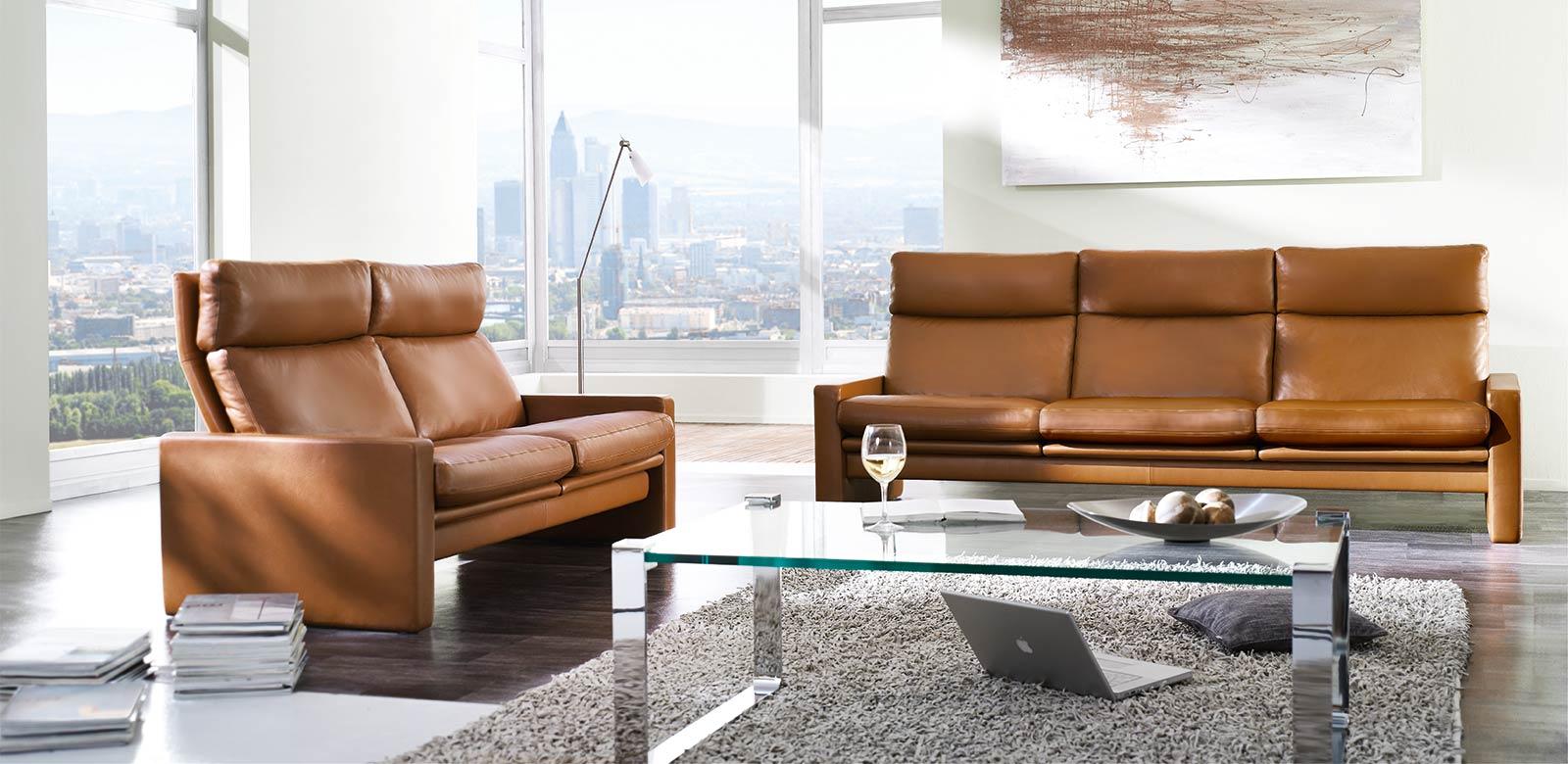 ERPO Designsofa Manhattan - hochwertige Leder Sofas